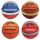 Meteor Training - Pallone da basket da uomo, misura 7, marrone (approvato FIBA )