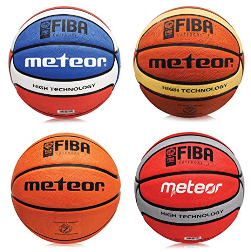 meteor Herren-Basketball Training (Größe 7), braun (FIBA Approved)