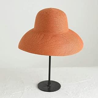 ZRL77y Ladies Straw Sun Hat Women Summer Beach Hats,Packable Adjustable Fashion (Color : Orange)