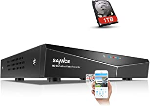 SANNCE 8-Channel HD 1080N Wired Home Security Surveillance System Video DVR Recorder with 1TB Hard Disk Drive