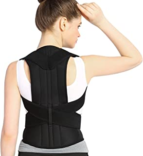 Back Posture Corrector for Men & Women Comfortable Back Double Y-shaped Cross, Built-in Steel Plate Brace Clavicle Support Device for Contracting Abdominal Muscles, Thoracic Kyphosis, Pain Relief (S)