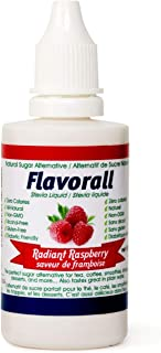 Greeniche Flavorall Radiant Raspberry Liquid Flavoured Stevia Drops | 50 ML | Natural Sweetener & Sugar Substitute | 20 Exciting Stevia Flavors