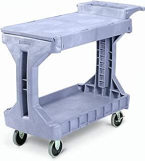 Akro-Mils 30930 2 Shelf Plastic Utility and Service ProCart, 400 lb capacity, Small, Grey