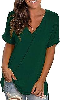 23549b3db Amazon.fr : Vert - T-shirts, tops et chemisiers / Femme : Vêtements
