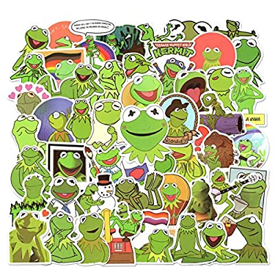 50pcs Cute Frog Stickers for Laptop, Funny Meme Stickers for Water Bottles, Waterproof Vinyl Decal for Phone Case, Cool Cartoon Frog Stickers for Tenns, Kids