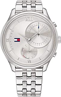 Tommy Hilfiger Women'S Grey Dial Stainless Steel Watch - 1782132
