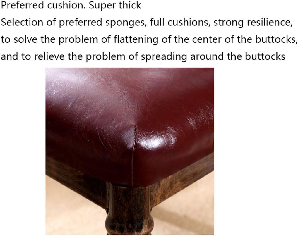 FABAX Chaise de Salle à Manger 2 pièces en Cuir Chaise Fer forgé Modernes durables Jambe Chaise à Side for la Maison Cuisine Salon Table de Salle a Manger (Color : G) B
