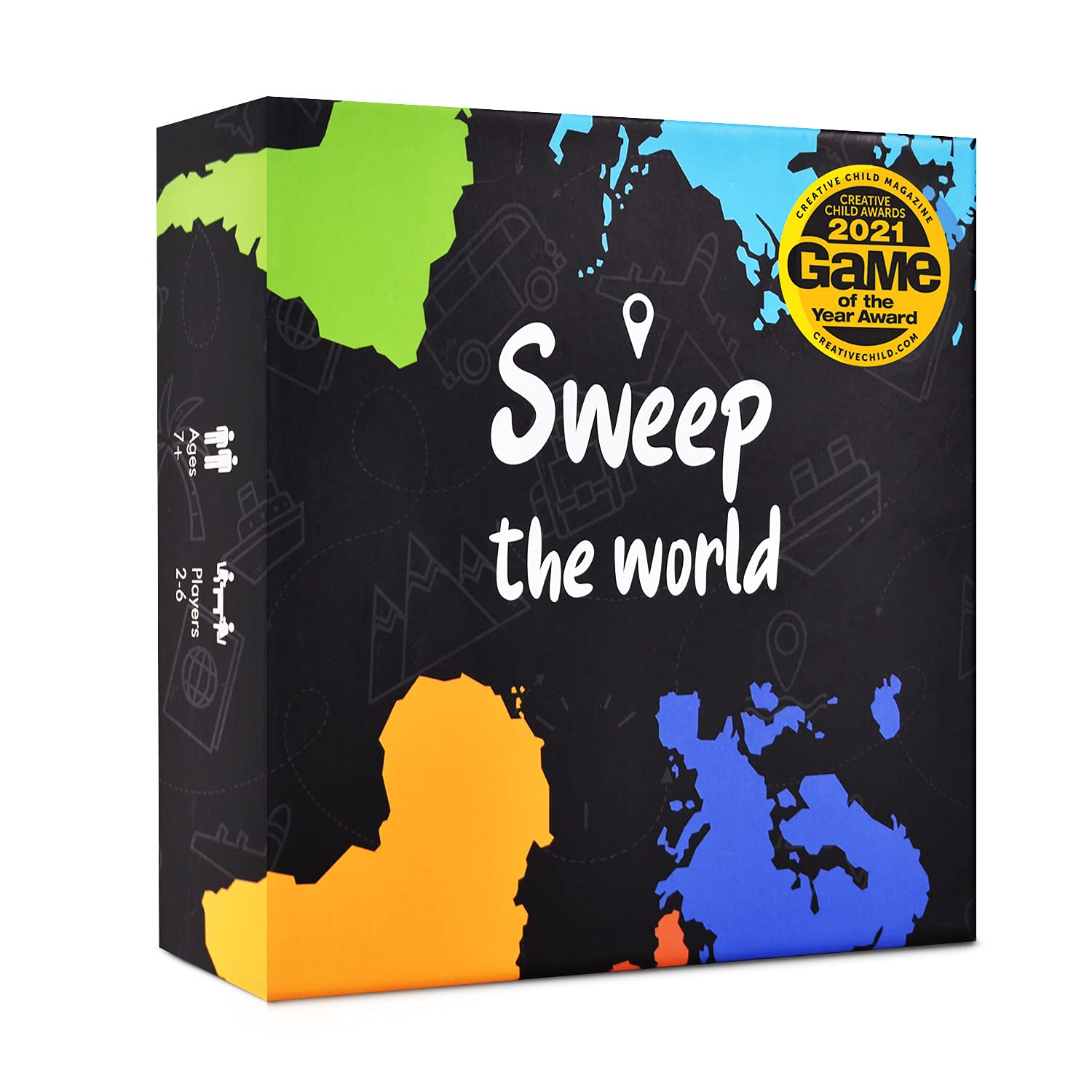 Sweep the World Card Game – Interactive Geography Game with All Countries of The World – Educational, Competitive & Fun Game for Kids, Teens & All Ages - Learning Game for The Whole Family
