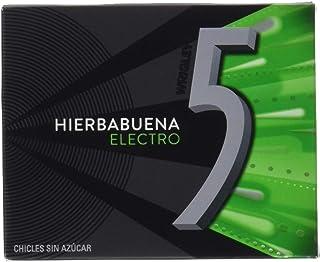 Wrigley's Five Chicles Electro de Hierbabuena, 10 Paquetes de 12 Chicles