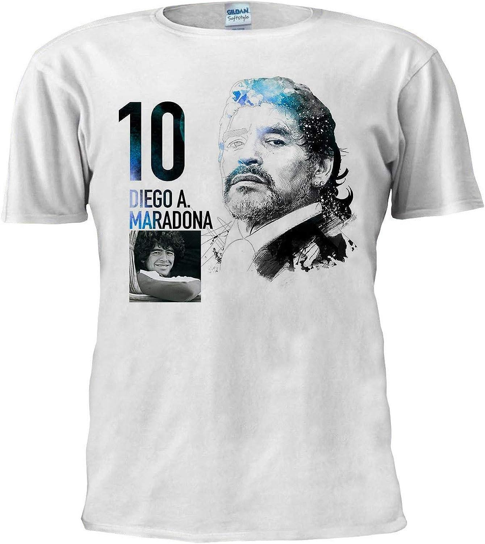 Diego Maradona Camiseta de fútbol Sport Legend Argentina Tee ...