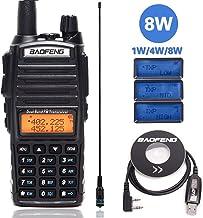 BAOFENG UV-82 Plus 8 Watts High Power Dual Band VHF/UHF 136-174/400-520MHz Ham CB Amateur Portable Two Way Radio+771 Antenna+USB Programming Cable