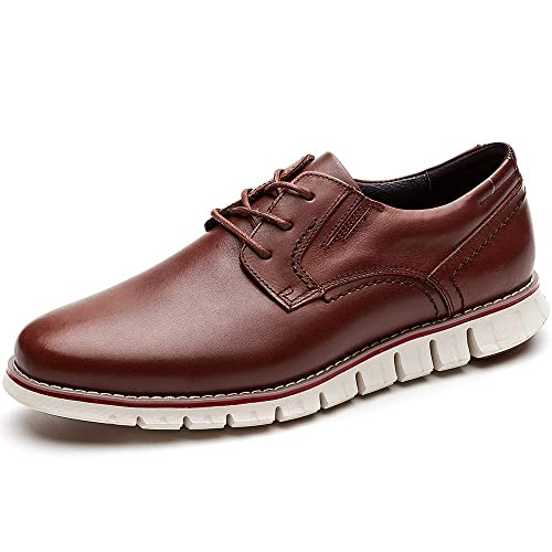 d8063338abd98 LAOKS Men s Brogues Oxford Wingtip Genuine Leather Dress Shoes for Business  Casual Lace-up