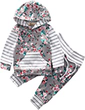 Toddler Baby Boys Girls Long Sleeve Pocket Hoodie Sweatsuit Pants 2Pcs Outfits Sets