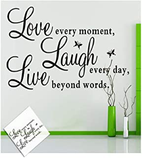 Clearance Sale!DEESEE(TM)🍀🍀Live Every Moment Removable Art Vinyl Mural Home Room Decor Wall Stickers