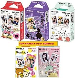 Fujifilm Instax mini Instant Film Bundle of 5 boxes,including disney 3 boxes of Mickey& Alice & Pooh