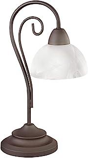 Reality, Lampe de table, Country 1xE14, max.40,0 W Verre, Blanc, Corps: metal, Rouille Ø:15,5cm, H:40,0cm IP20,Interrupteu...