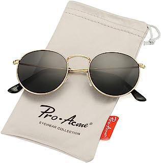 Pro Acme Small Round Metal Polarized Sunglasses for Women Retro Designer Style