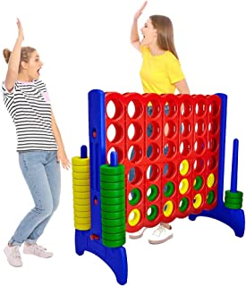 Giant 4 in a Row Connect Game – 4 Feet Wide by 3.5 Feet Tall Oversized Floor Activity for Kids and Adults – Jumbo Sized for Outdoor and Indoor Play