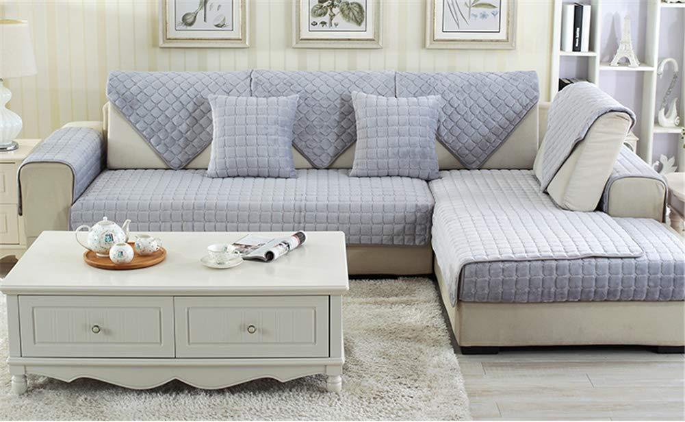 Plush Corner Sofa Cover Modern Anti Slip Buy Online In Grenada At Desertcart