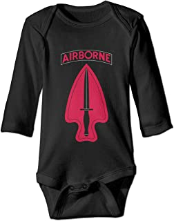 United States Army Special Operations Command Delta Force Baby Romper Long Sleeve Cozy Cute Onesie Gift for Toddler