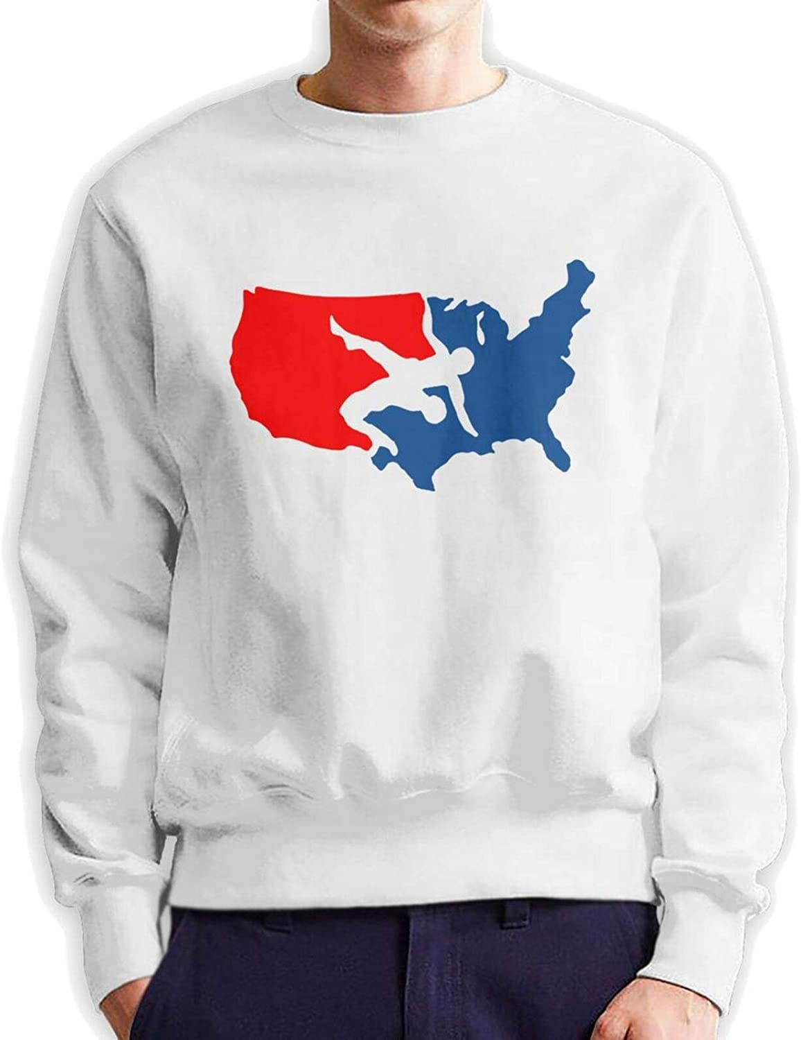 USA Wrestling Men's Top 40% OFF Cheap Sale Max 74% OFF T Pullover Sweatshi Shirts Hooded Fleece