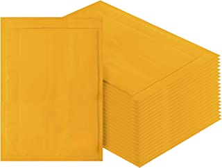 Amiff Kraft Bubble mailers 10.5 x 15 Padded envelopes 10 1/2 x 15. Exterior Size 11.5 x 16 (11 1/2 x 16). Pack of 10 Kraft Paper Cushion envelopes. Peel & Seal. Mailing, Shipping, Packaging.