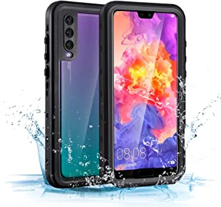 Mishcdea for Huawei P20 Pro Waterproof Case Shockproof Snowproof Dirtproof Full Body Phone Protector Cover (Black, Only for Huawei P20 Pro)