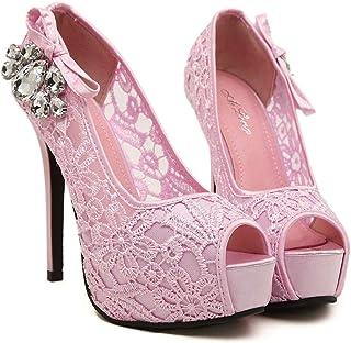 Fashion Wedding Heels (Color : Pink, Size : 36)
