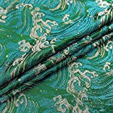 SQINAA Brokatstoff Einzigartige Oberfläche Glatt Elegant