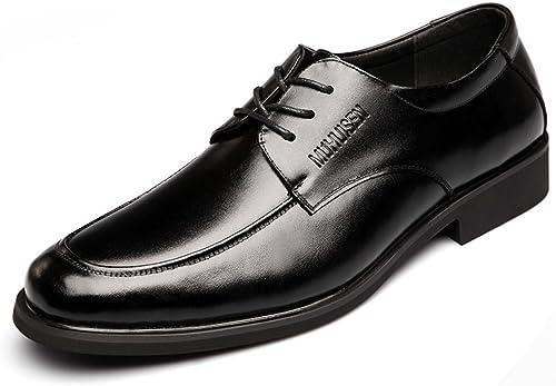 GTYMFH Herrenschuhe Business Schuhe Herren Leder Spitze Schwarz Leder Jugend Schuhe