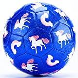 CubicFun Kids Soccer Ball Size 3 Glitter Effect with Pump, Kids Outdoor Toys Toddler Toys Age 2-4, Toddler Girl Toys for 3 Year Old Girls Gifts Toys for 4 Year Old Girls Toys for 5 Year Old Girls Boys