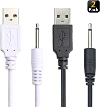 Bemexred Replacement 2.5mm DC Charging Cable USB Adapter Cord 2.5mm Fast Charging Cord (Black+White)
