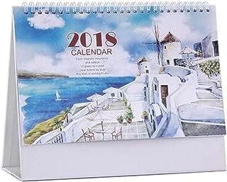 [O] November 2017 to December 2018 Desk Calendar Desktop Calendar Schedule