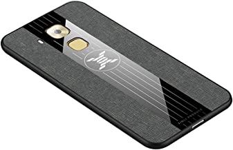 For Huawei Maimang 5 Stitching Cloth Textue Shockproof TPU Protective Case New (Black) LKay (Color : Grey)