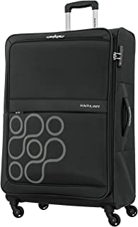 Kamiliant by American Tourister Venda Softside Spinner Luggage 69cm with 3 digit Number Lock - Black