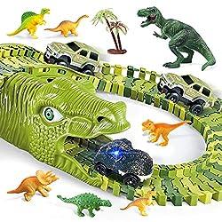 6. burgkidz Store Dinosaur Race Track Playset (260pcs)