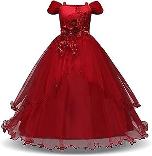 Vestido de princesa de las niñas Muchachas de la princesa vestido de lentejuelas tul vestidos de flores desfile de la much...