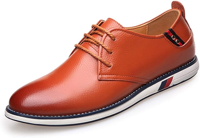 SCSY-Oxford-Schuhe Klassische einfache Herrenschuhe aus echtem Rindsleder mit Schnürung Schnürung Schnürung und flachem Sohle für Herren  27d0b7