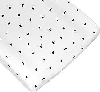 Nap Baby Funda para Cambiador para Bebé 100% algodón, súper suave - Estrellas Negras