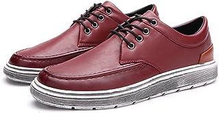 [QIFENGDIANZI] 紳士靴 メンズ デッキシューズ カジュアルシューズ スニーカー 四季 コンフォート ローカット 履き心地よい レースアップ シンプル スリッポン フラット オシャレ 耐久性 3色
