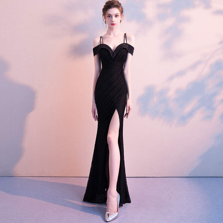 Evening Dress Long Skirt Party Dress Sling Backless Sleeveless Slim Fit Split Elegant and Sexy