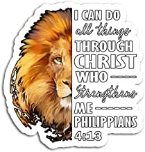 Hand Wooden Customizable Sticker Christian Bible Verse Sayings Religious Him Lion Judah Stickers for Personalize (3 pcs/Pack)