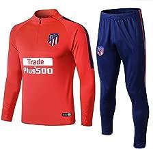 WigColtd Sportbekleidung 18-19 Atletico Madrid Trainingsanzug Mit Langen Ärmeln Freizeitpullover Fußballanzug Herren