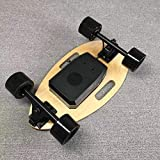 リモコン付きE-クルーザー電動スケートボード、カブトムシの外観のミニスケートボード、メープルの7層、最大25 km/h、シングル/デュアルドライブ150Wモーター、大人のティーンエイジャーの子供のためのE-スケートボード