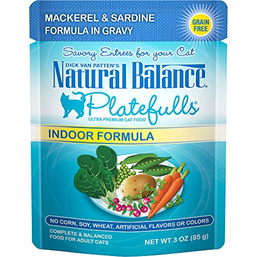 Natural Balance Platefulls Indoor Wet Cat Food, Mackerel & Salmon Formula in...