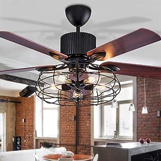 Genial JINWELL LED Ventilateur De Plafond Avec Éclairage Salon Chambre  Télécommande Haute Qualité Loft Ventilateur Lustre Rétro