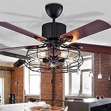 LED plafondventilator met verlichting hanglamp woonkamer slaapkamer plafondlamp afstandsbediening loft ventilator kroonluc...
