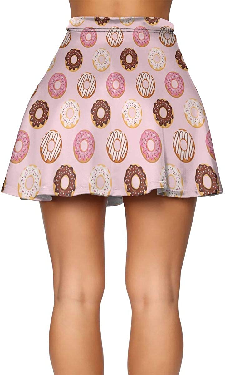 Women' Frill Trim Summer Mini Skirt Stretch Lotus Leaf Skirt for Woman