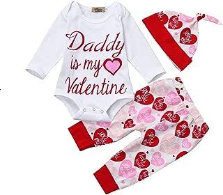 Winsummer Newborn Baby Boy Girl Xmas Newyear Costume Outfits Long Sleeve Romper Bodysuit +Pants+Hat+Headband