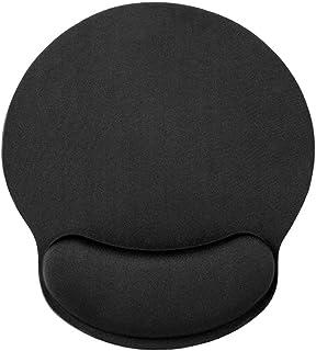 HONESTY HONESTY Black Memory Sponge Foam Mouse Pad with Wrist Rest Support (1 Pack)